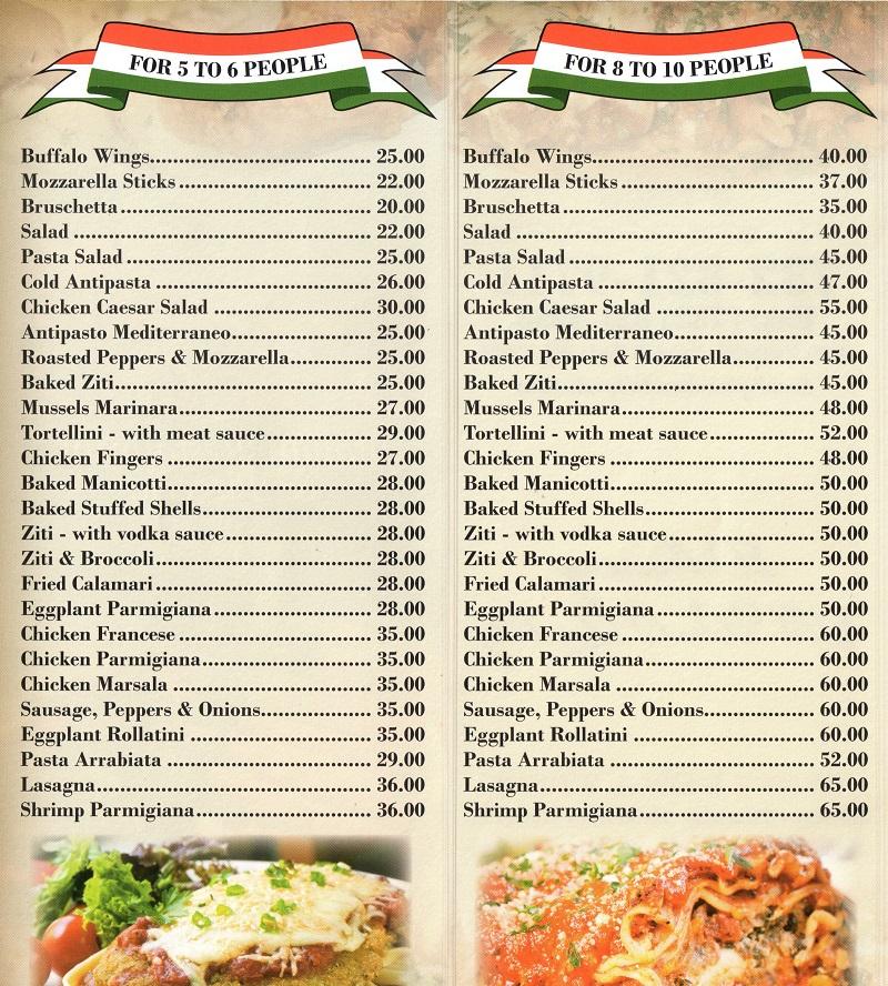 That Little Italian Kitchen Catering Menu